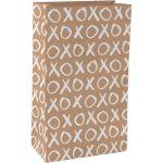 Blokbodemzak, kraft, 18/ 10x31cm, XOXO, bruin