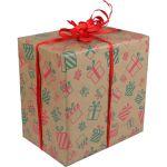 Cadeaupapier, 50cm, 200m, 70gr/m², Gifts, rood/Groen