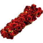 Corsage, roos op draad, Ø20mm, 8.5cm rood