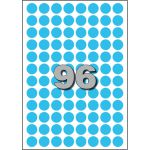 Etiket, papier, Ø15mm, blauw