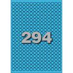Etiket, papier, Ø8mm, blauw
