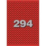 Etiket, papier, Ø8mm, rood
