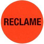 Reclame-etiket, papier, reclame, 35x rood