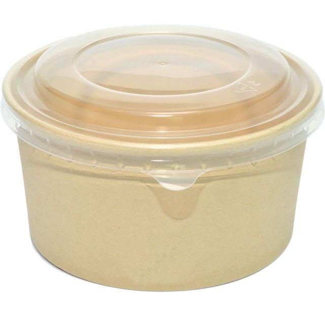 salade bowl bamboepapierpe 1000ml 150mm naturel