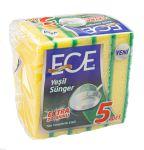Schuurspons, Ece, 7x10cm, geel/groen