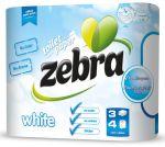 Toiletpapier Zebra 4rol 3laags wit