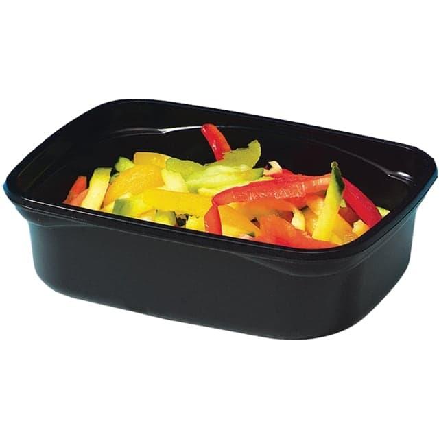 saladebak pet 500ml ovaal leakproof transparant